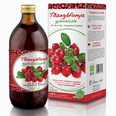 Tőzegáfonya 100%-os Bio, 500 ml (5 + 1 ajándék)