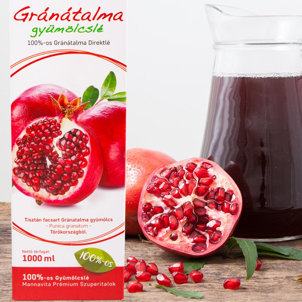 Mannavita GRÁNÁTALMA gyümölcslé %-os, ml (5+1 ajándék) Vásárlás most